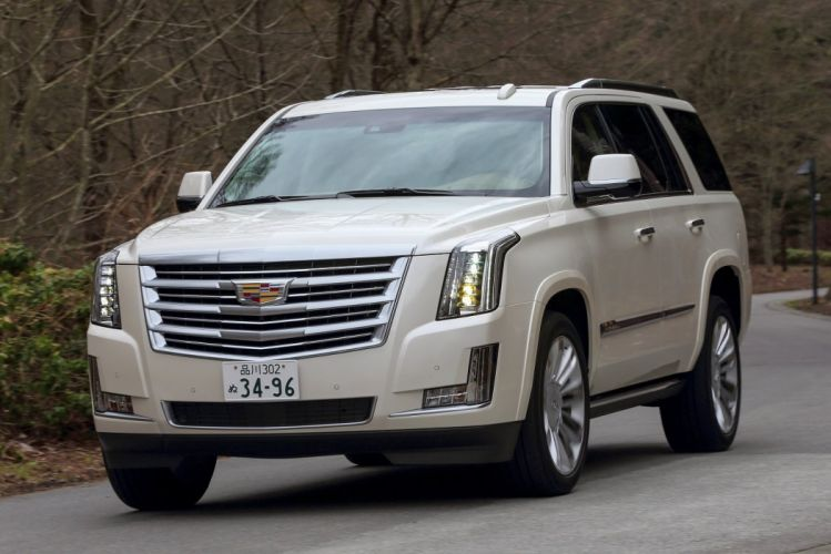Cadillac Escalade Platinum JP-spec cars suv white 2015 wallpaper