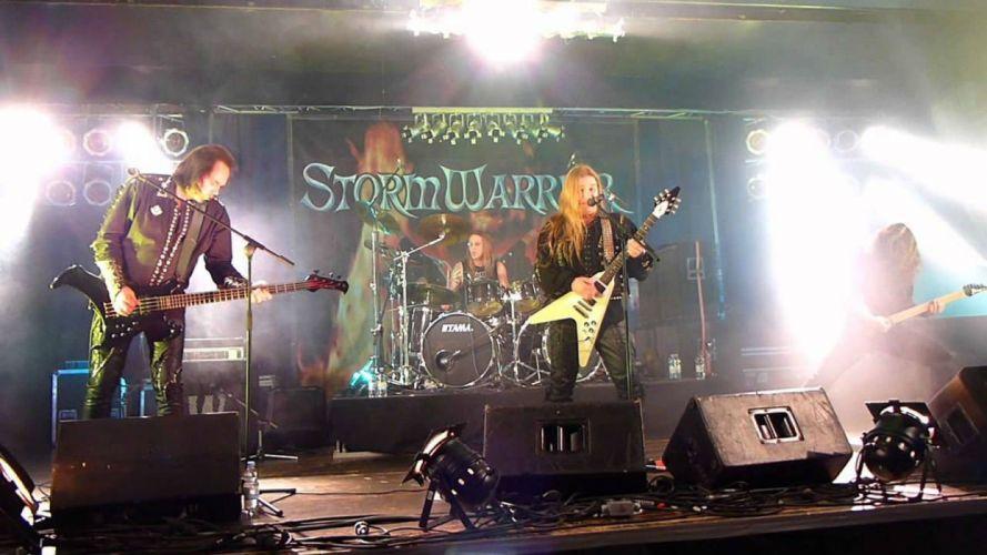 STORMWARRIOR speed power metal heavy concert guitar wallpaper