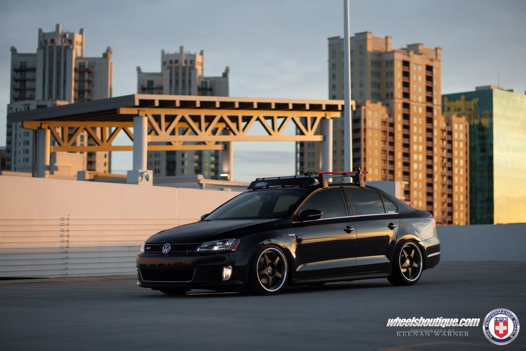 Volkswagen Jetta sedan GLI HRE wheels tuning cars sedan black wallpaper