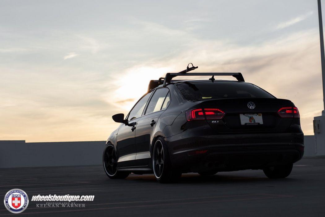 Volkswagen Jetta sedan GLI HRE wheels tuning cars sedan black wallpaper