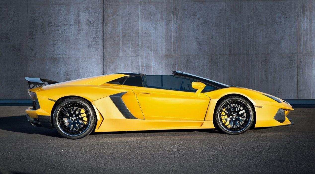 Hamann Lamborghini Aventador Roadster Limited modified cars yellow wallpaper