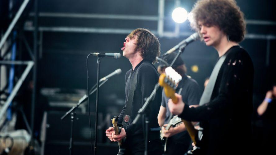CATFISH BOTTLEMEN Indie rock pop roll concert singer guitar wallpaper