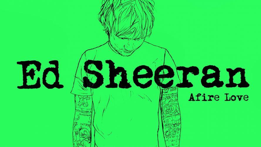 ED SHEERAN pop r-b folk hip hop acoustic singer indie 1sheeran poster wallpaper