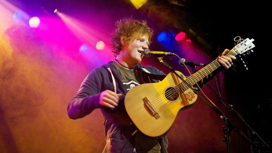 ED SHEERAN pop r-b folk hip hop acoustic singer indie 1sheeran concert guitar wallpaper