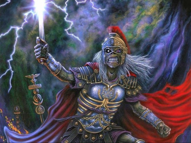 IRON MAIDEN power metal heavy artwork dark evil fantasy warrior eddie skull wallpaper