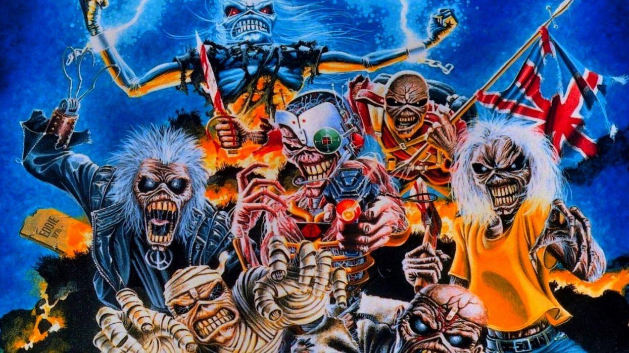 IRON MAIDEN power metal heavy artwork dark evil eddie skull wallpaper