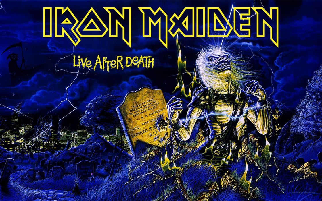 IRON MAIDEN power metal heavy artwork dark evil eddie skull poster wallpaper