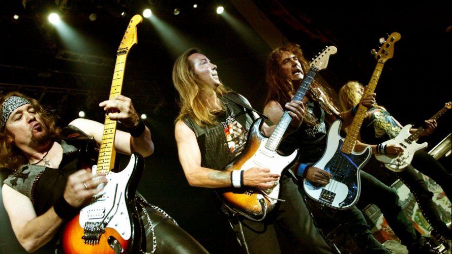 IRON MAIDEN power metal heavy concert guitar wallpaper