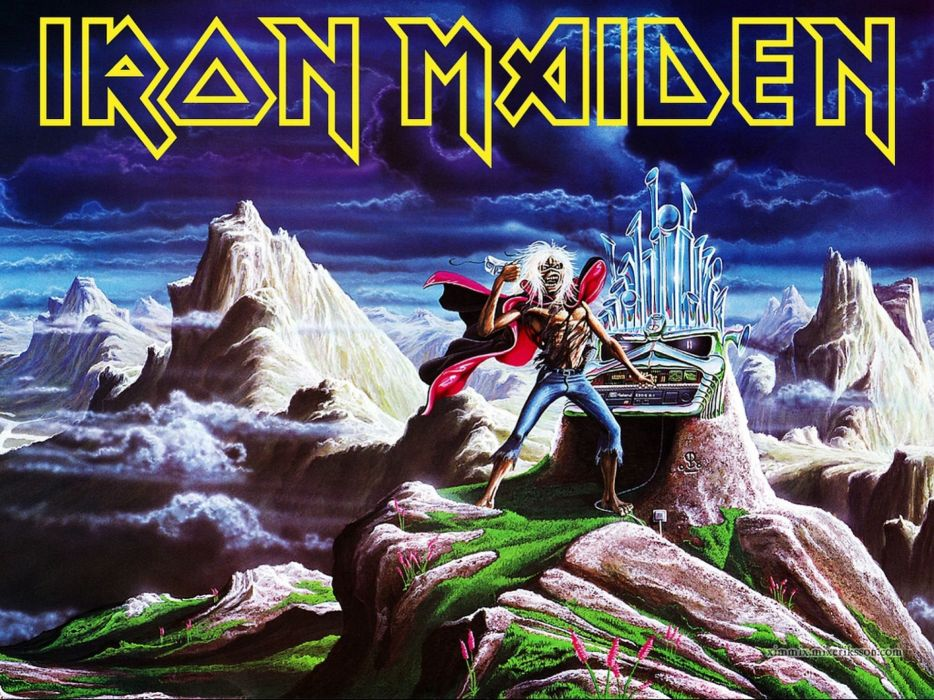 IRON MAIDEN heavy metal power artwork dark evil eddie skull poster wallpaper