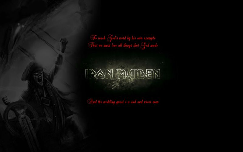 IRON MAIDEN heavy metal power poster text typography quote wallpaper