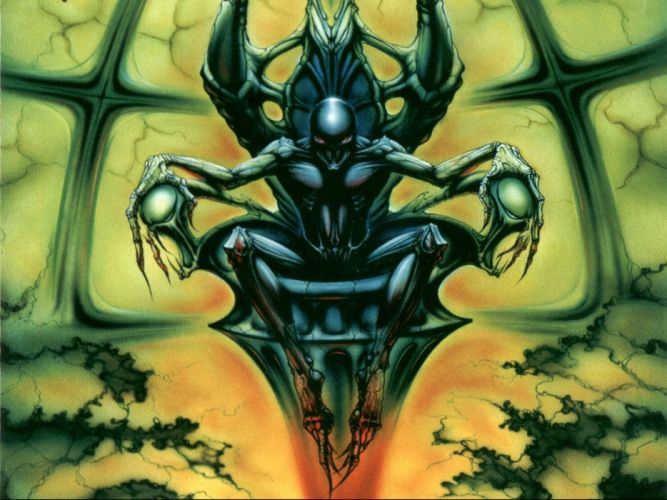 IRON MAIDEN heavy metal power artwork dark evil eddie skul demon wallpaper