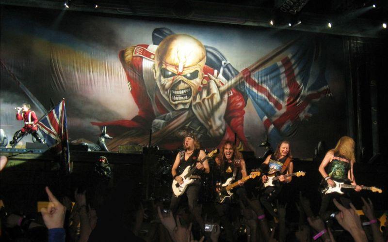 IRON MAIDEN heavy metal power artwork dark evil eddie skull concert guitar wallpaper