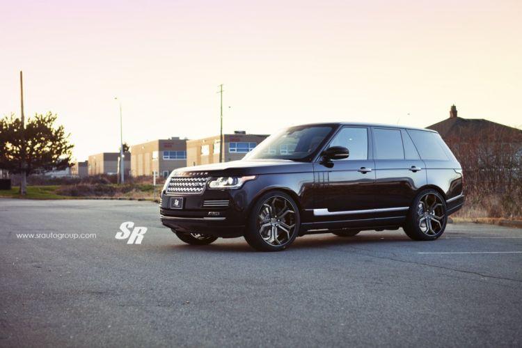 Range Rover black pur wheels tuning cars wallpaper
