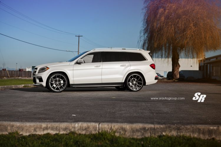 Mercedes GL350 white pur wheels tuning cars wallpaper