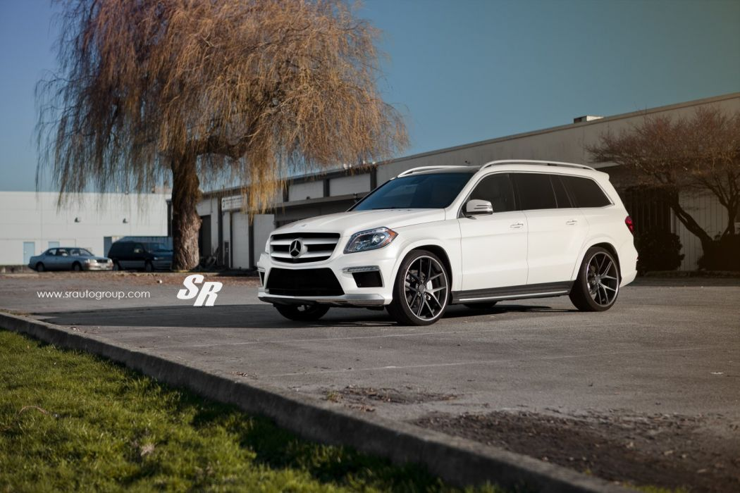 Mercedes GL350 white pur wheels tuning cars wallpaper