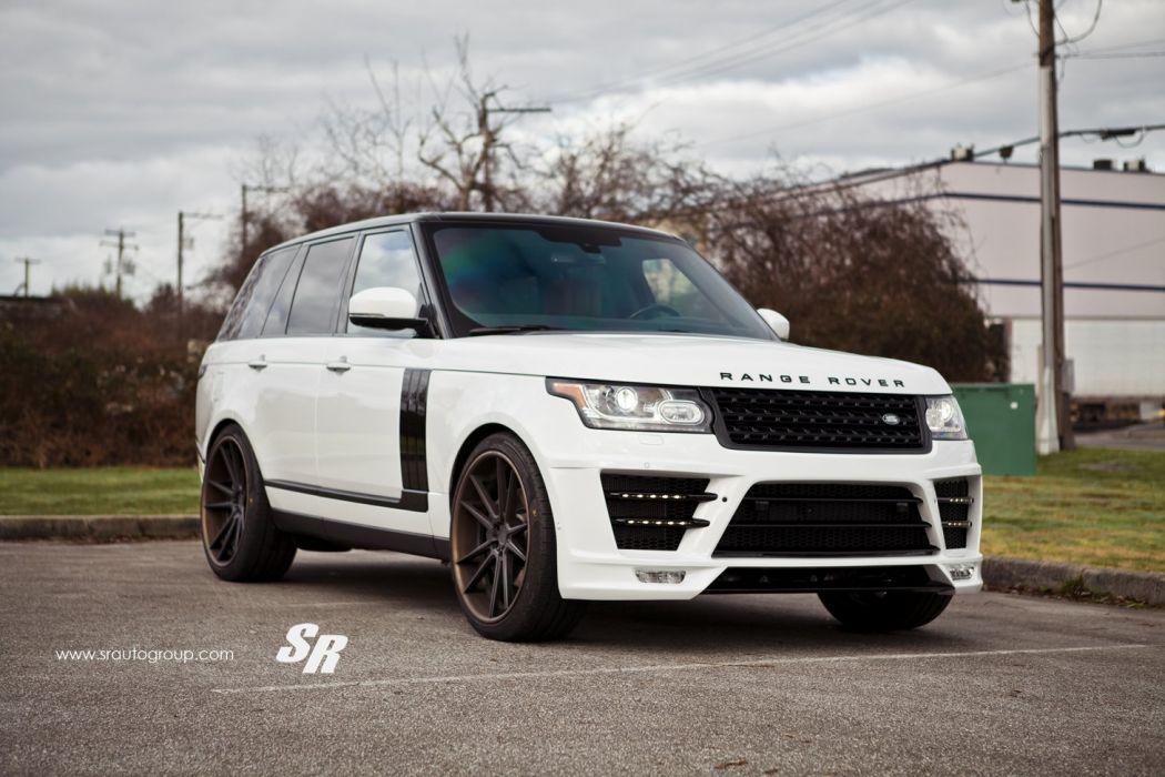 Lumma Design CLR SR range rover bodykit white pur wheels tuning cars wallpaper