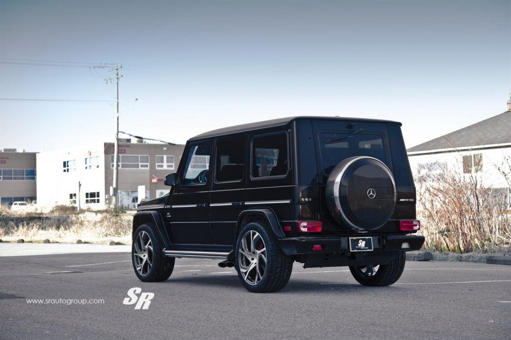Mercedes G63 AMG black pur wheels tuning cars wallpaper