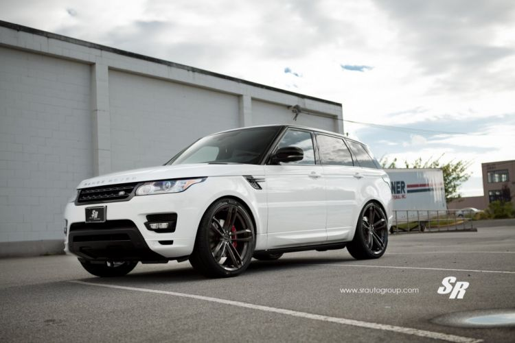 Range Rover sport white pur wheels tuning cars wallpaper