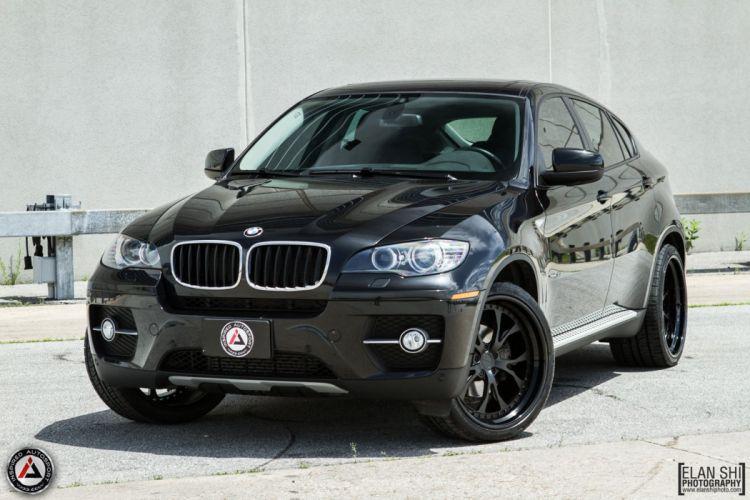 BMW x6 black pur wheels tuning cars wallpaper