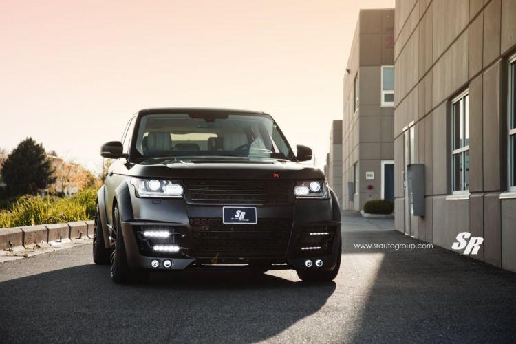 Range Rover Vogue Lumma Design CLR R widebody black pur wheels cars tuning wallpaper