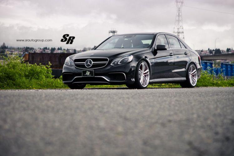 Mercedes E63 AMG black pur wheels cars tuning wallpaper