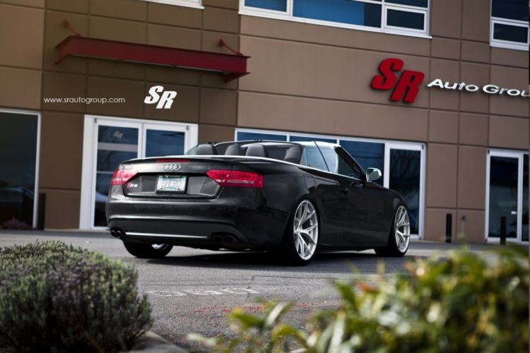 Audi S5 convertible black pur wheels cars tuning wallpaper