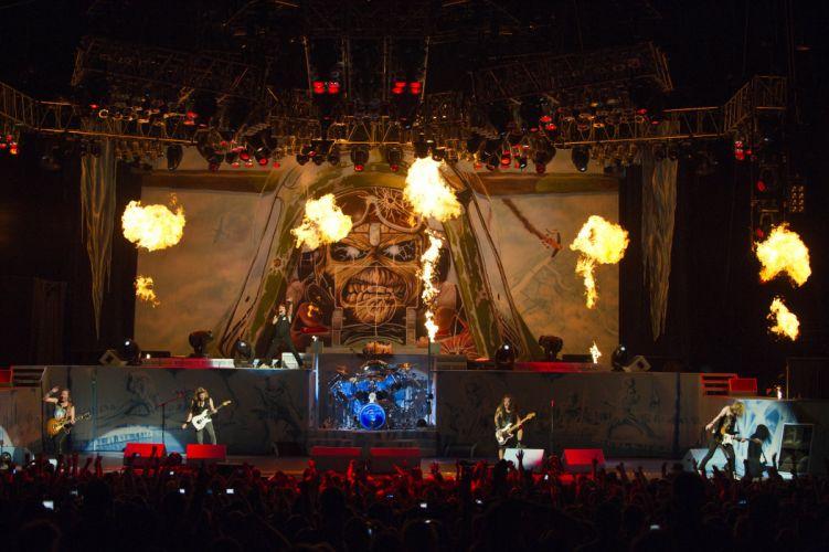 IRON MAIDEN heavy metal power concert wallpaper