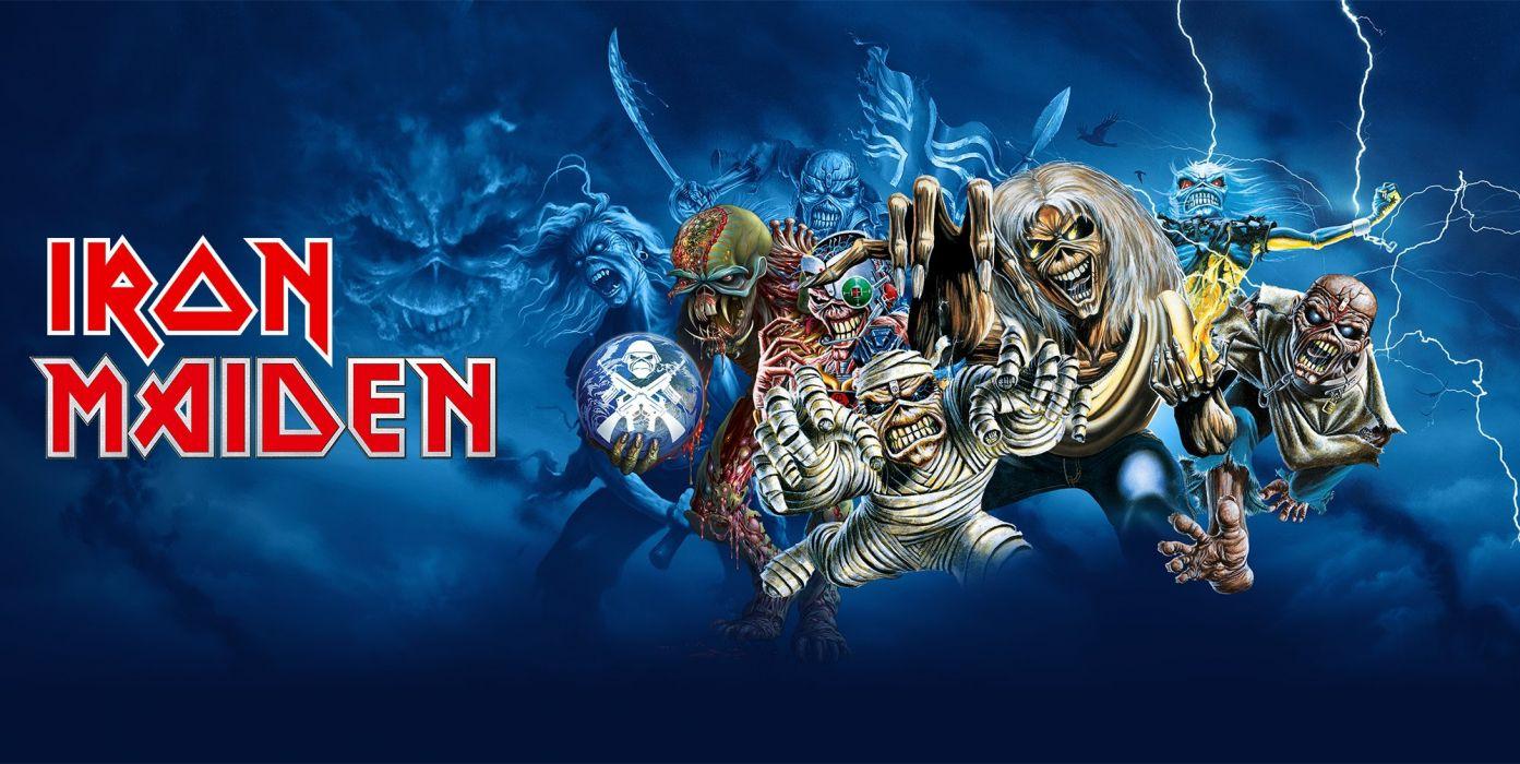 Iron Maiden Heavy Metal Power Artwork Fantasy Dark Evil Eddie Skull Poster Wallpaper 2000x1005 718910 Wallpaperup