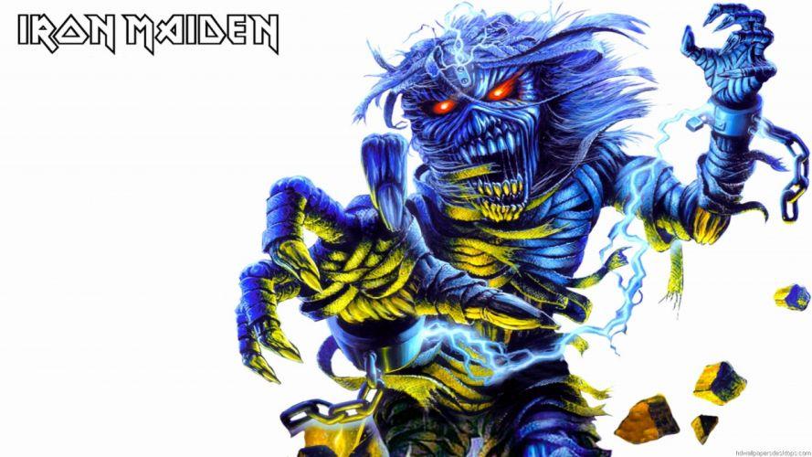 IRON MAIDEN heavy metal power artwork dark evil eddie skull poster wallpaper