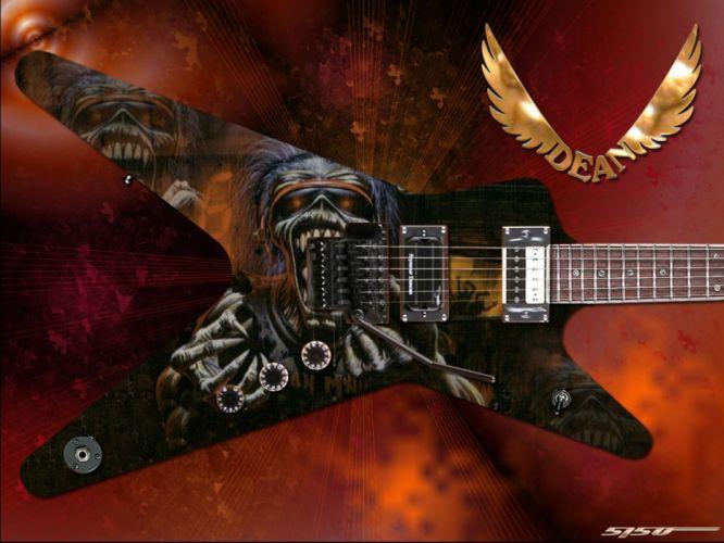 IRON MAIDEN heavy metal power guitar wallpaper