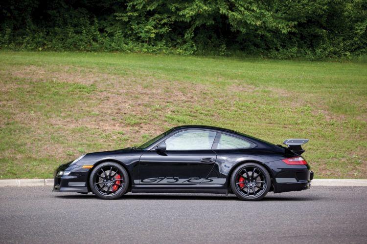 Porsche 911 GT3 RS US-spec 997 coupe cars black 2007 wallpaper