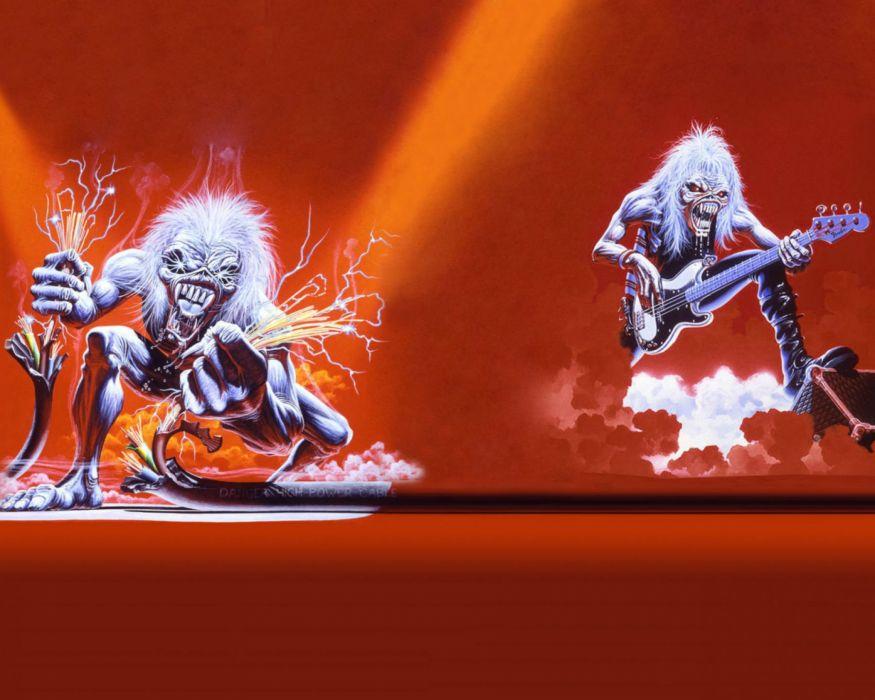 IRON MAIDEN heavy metal power artwork dark evil eddie skull guitar wallpaper