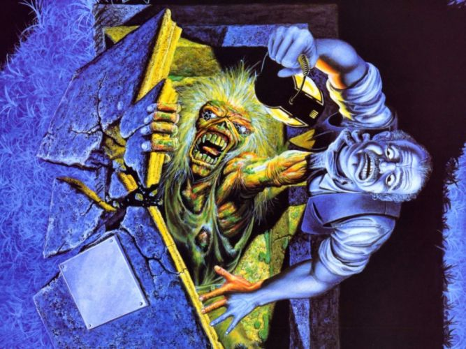 IRON MAIDEN heavy metal power artwork fantasy dark evil eddie skull wallpaper