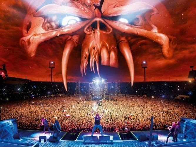 IRON MAIDEN heavy metal power artwork fantasy dark evil eddie skull poster concert wallpaper
