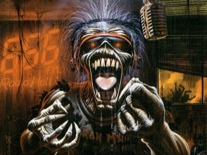 IRON MAIDEN heavy metal power artwork fantasy dark evil eddie skull wallpaper