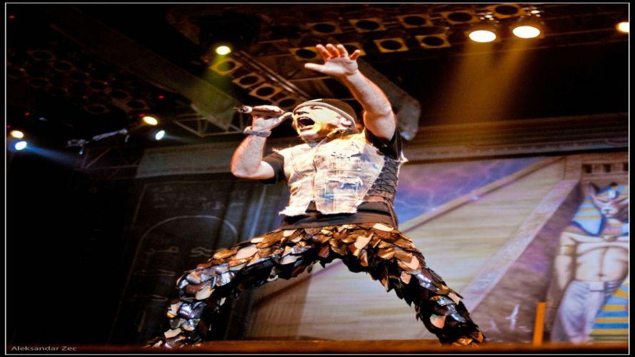 IRON MAIDEN heavy metal power concert singer wallpaper