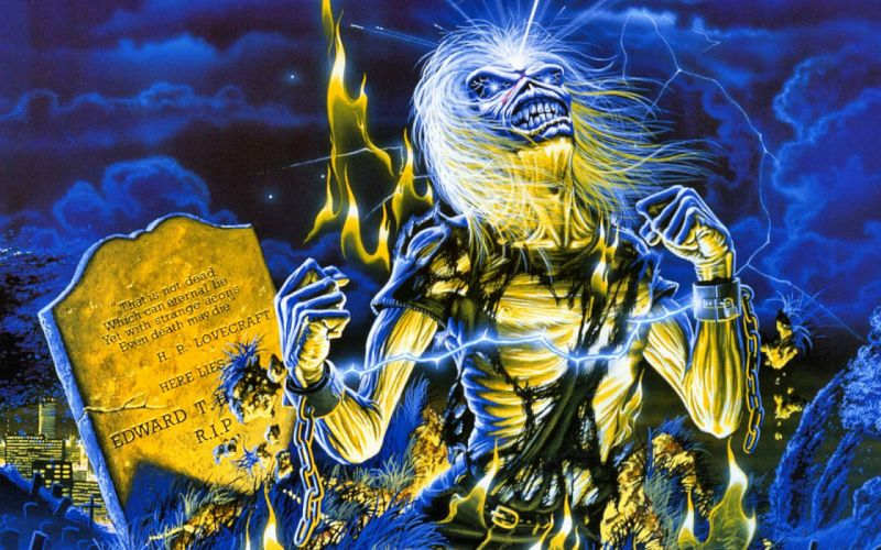 IRON MAIDEN heavy metal power artwork fantasy dark evil eddie skull demon poster wallpaper