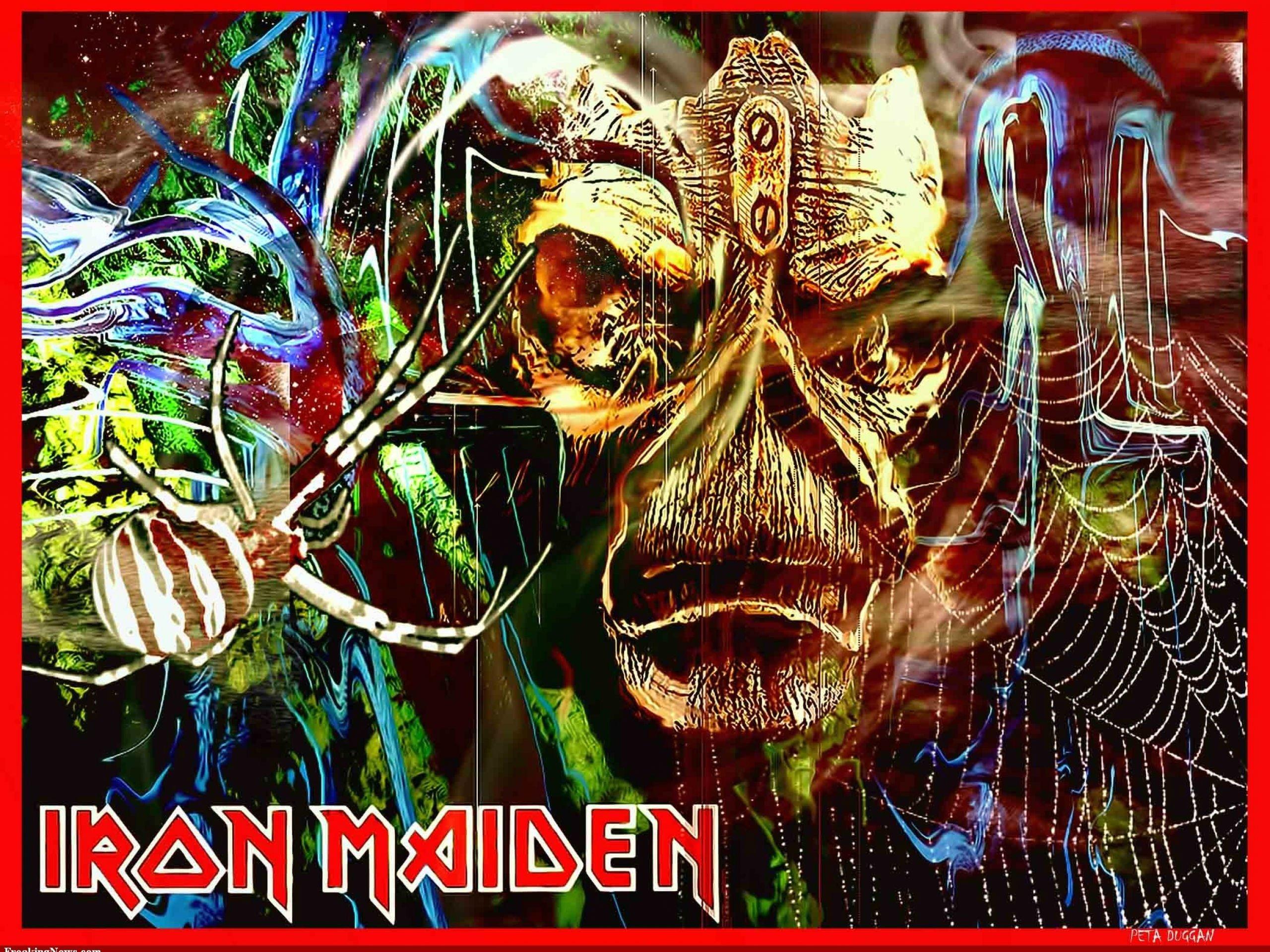 IRON MAIDEN heavy metal power artwork fantasy dark evil