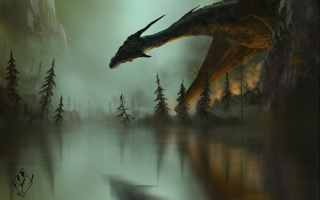 dragon fantasy artwork wallpaper