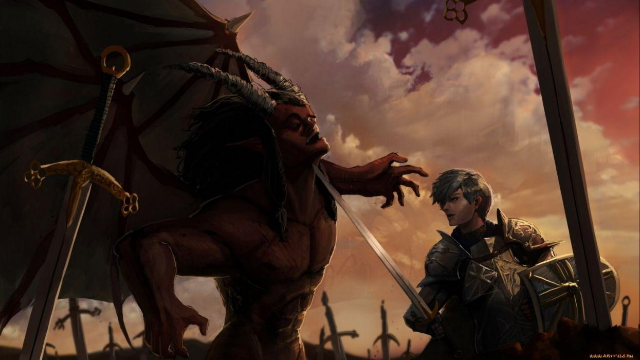 fantasy artwork art warrior battle wallpaper