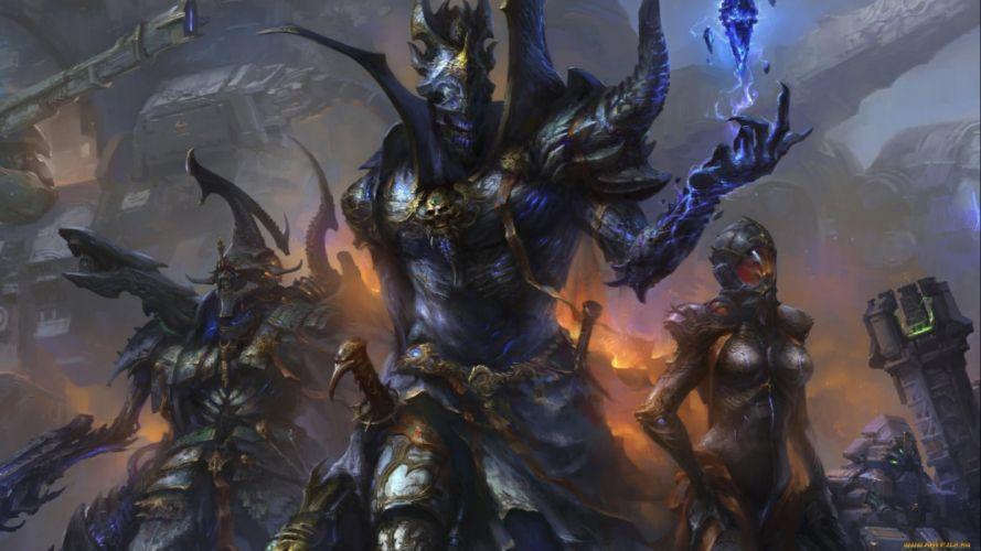 fantasy artwork art warrior magic wallpaper