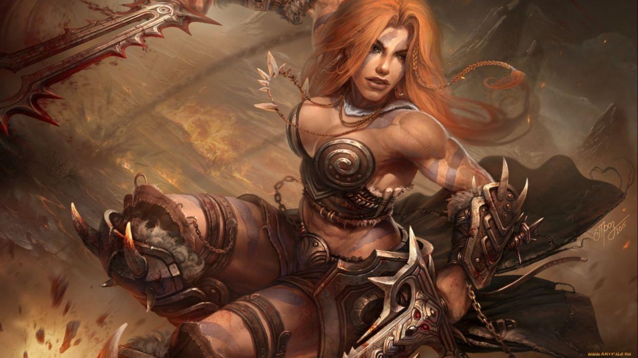 Word honour. erotic woman warrior fantasy art