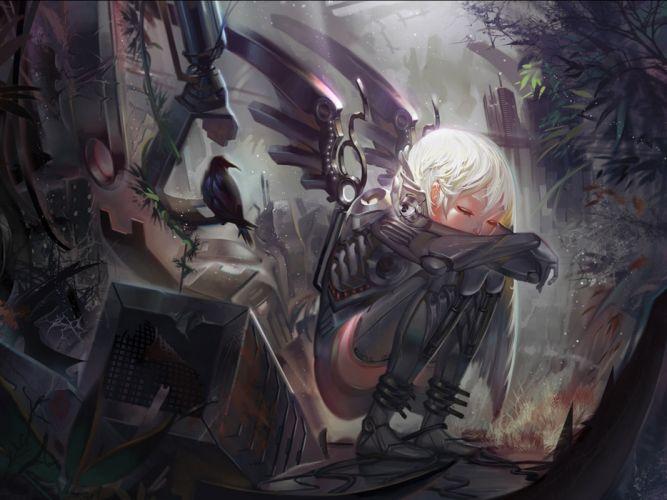fantasy artwork art angel wings girl girls gothic dark wallpaper