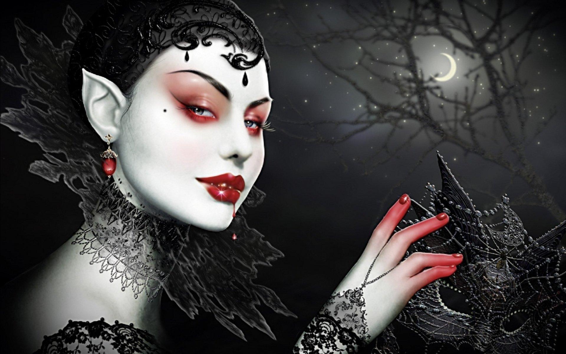 gothic vampire bloody girl - photo #4
