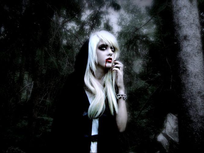 Fantasy Art Vampires Wallpapers Hd Desktop And Mobile: Fantasy Artwork Art Dark Vampire Gothic Girl Girls Horror