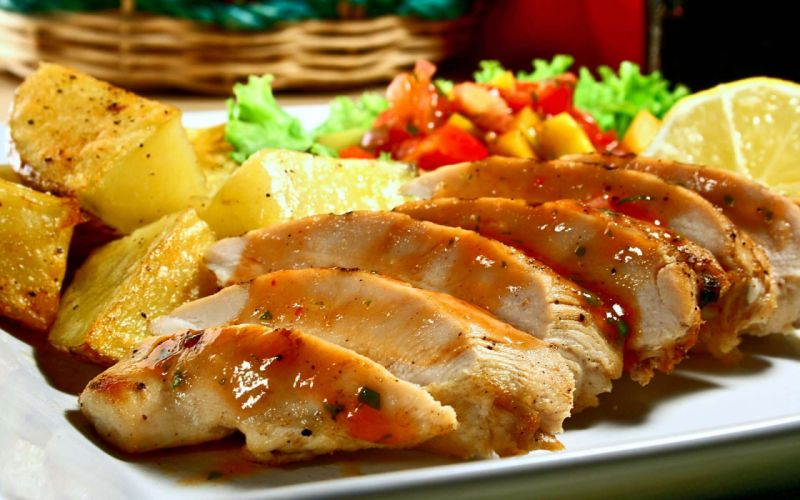 carnes patatas verduras asado wallpaper