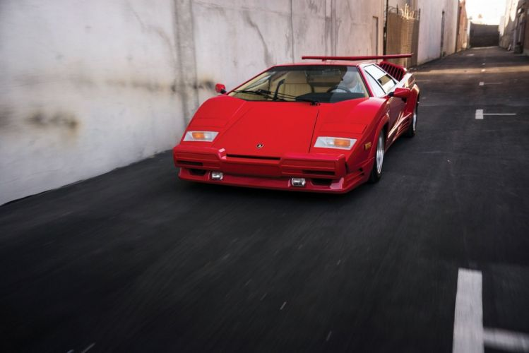 Lamborghini Countach 25 Anniversario US-spec cars supercars red 1988 wallpaper
