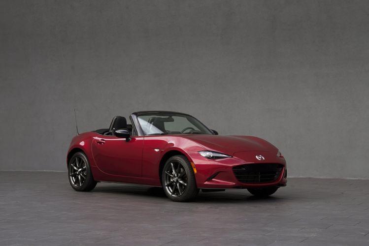 2016 Mazda MX-5 Miata US-spec cars roadster red 2015 wallpaper