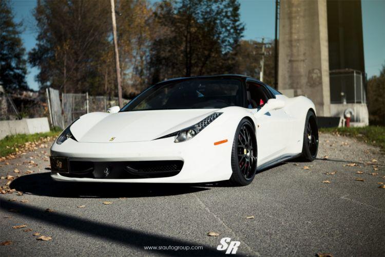 ferrari 458 italia white pur wheels cars tuning wallpaper