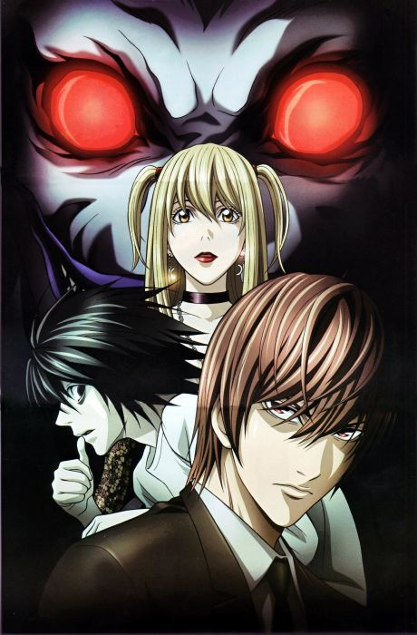 anime red eyes Death Note Series L Character Light Yagami Character Misa Amane wallpaper